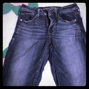 Crop jeans, rolled bottom